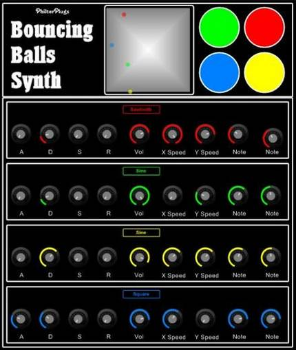 Philter Plugs Bouncing Balls Synth